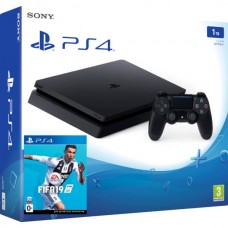 PlayStation 4 SLIM Bundle (1 Tb, FIFA 19), 222896, Консоли